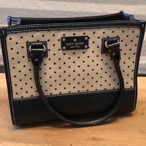 Kate Space Black and Cream Purse